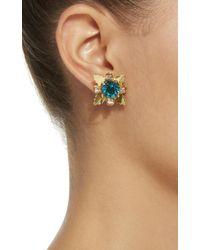 Nicole Romano - Blue 18k Gold-plated Star Crystal Stud Earrings - Lyst