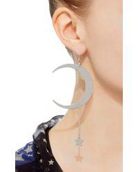 Roberto Cavalli - Metallic Lucky Moon & Star Earrings - Lyst