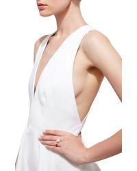 Delfina Delettrez White Trillion Ring