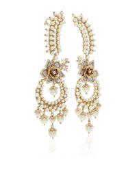Marchesa - Metallic Drama Crawler Earrings - Lyst