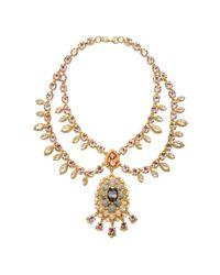 Marchesa - Metallic Swag Collar Necklace - Lyst