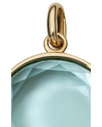 "Loquet London - Blue Topaz Faceted Locket On A 18"" Yellow Gold Chain - Lyst"