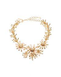 Oscar de la Renta | Metallic Galaxy Coral Necklace | Lyst