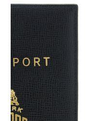 Mark Cross - Black Leather Passport Holder for Men - Lyst