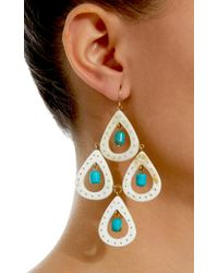 Ashley Pittman - White Jasiri Horn And Turquoise Earrings - Lyst