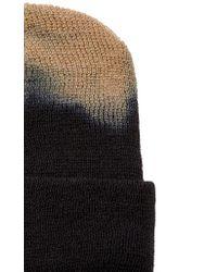 Albertus Swanepoel Blue Bleached Wool Beanie for men