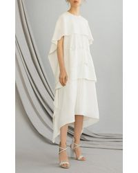 ADEAM - White Knotted Plisse Gown - Lyst