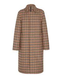AMI Brown Bonded Mac Coat for men