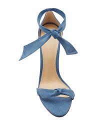 Alexandre Birman Blue Clarita Suede Sandals