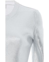 Carven Metallic Ribbed Knit