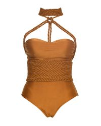 Lenny Niemeyer - Metallic Shibari Rope Maillot Swimsuit - Lyst