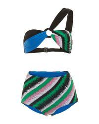 Emilio Pucci | Blue One Shoulder Bikini | Lyst