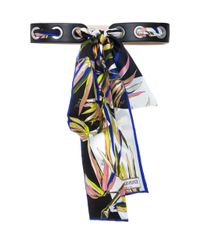 Emilio Pucci | Black Needle And Thread Scarf Belt | Lyst