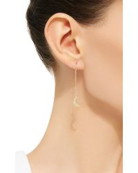 Andrea Fohrman | Yellow Crescent Moon Earrings | Lyst