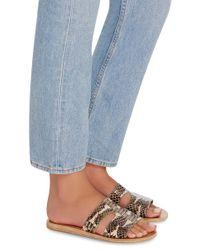 Ancient Greek Sandals Blue Elaphe Sandals
