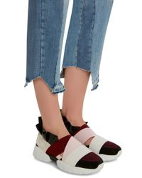 Emilio Pucci Multicolor Leather & Elastane Slip-On Sneakers