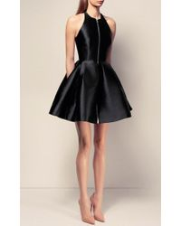 Alex Perry | Black The Delany Silk Halter Open Back Mini Dress | Lyst