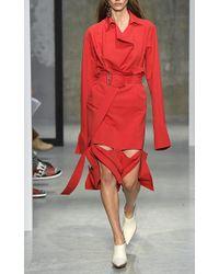 Marni - Red Long Sleeve Cuffed Tunic - Lyst