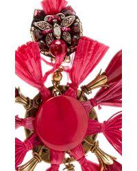 Ranjana Khan - Black Red Fan Earrings - Lyst