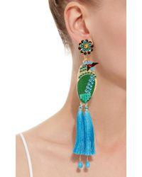 Mercedes Salazar - Bird Blue Drop Tassel Earrings - Lyst