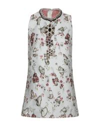 Giambattista Valli - Multicolor Distressed Floral Embroidered Jeweled Top - Lyst