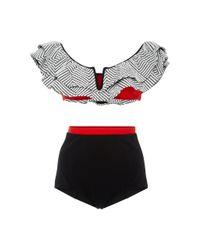 Flagpole Swim | Multicolor Diana Ruffled Off-the-shoulder Bikini Set | Lyst