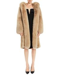Pologeorgis Natural Locke Mink Coat With Hood