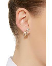 Hueb - Metallic Diamond Flower Earrings - Lyst