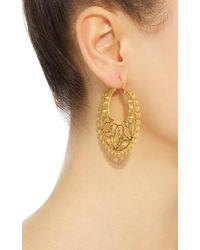 Mallarino - Metallic Mariana Hoop Earrings - Lyst