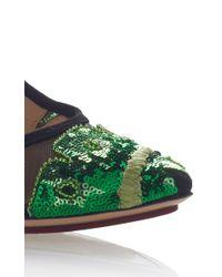 Charlotte Olympia - Green Amazonian Bacall Pump - Lyst