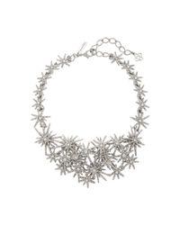Oscar de la Renta | Metallic Crystal Fireworks Necklace | Lyst