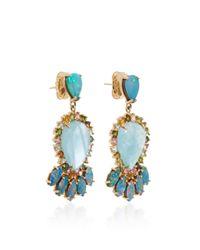 Eden Presley - Blue 14k Gold Aquamarine Multi-stone Earrings - Lyst