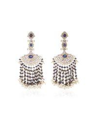 Sanjay Kasliwal - Blue Indorussian 14k Gold Sapphire Earrings - Lyst