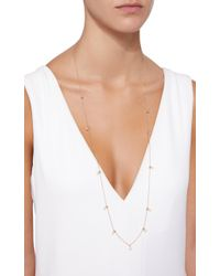 Zoe Chicco - Metallic 14k Gold Long Necklace With Sliding Beads And Dangling Pearls - Lyst