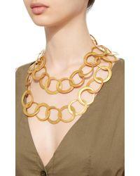 LA Cano - Metallic Nariguera Necklace - Lyst