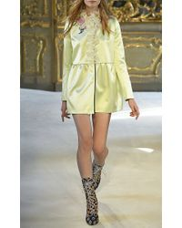 Giamba Multicolor Ruffle Neck Mini Dress