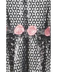 Giamba Black Sequin Rose Romper