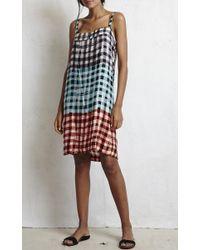 Warm Multicolor Noon Sleeveless Slip Dress