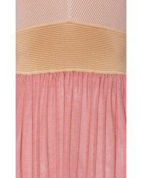 Agnona Multicolor Color Block Knitted Volume Dress