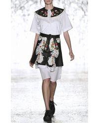 Vivetta White Chiurlo Poplin Lace Overlay Dress