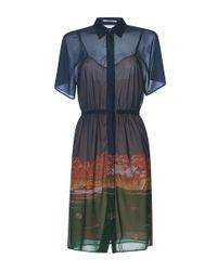 Marco De Vincenzo Blue Villa Jersey Shirt Dress