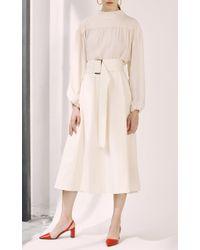 Erika Cavallini Semi Couture - White Pauline Belted Skirt - Lyst