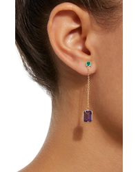 Yi Collection - Purple 18k Gold Emerald And Amethyst Earrings - Lyst