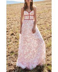 Costarellos White A-line Long Dress