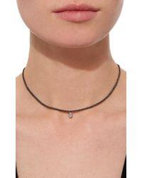 AS29 - Black Vertical Illusion Diamond Short Necklace - Lyst