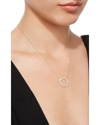 Sydney Evan - Metallic Cocktail Circle Necklace - Lyst