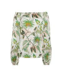 Adriana Iglesias - White Creek Printed Off The Shoulder Top - Lyst