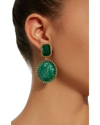 Lulu Frost - Green M'o Exclusive Vintage Marbled Glass Earrings - Lyst
