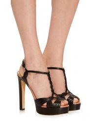 Francesco Russo Black Platform Sandal