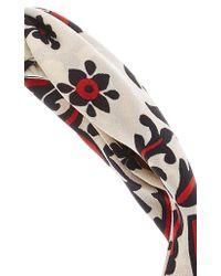 RED Valentino Multicolor Bijoux Printed Headband
